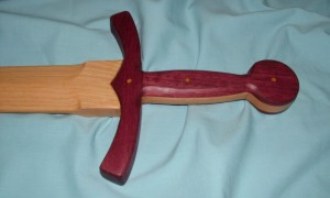 Arming Sword - Purple Heart Hilt